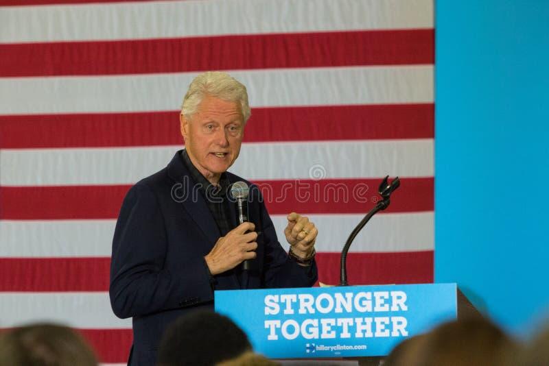 Ex-presidente Bill Clinton Speaking em Pensilvânia foto de stock