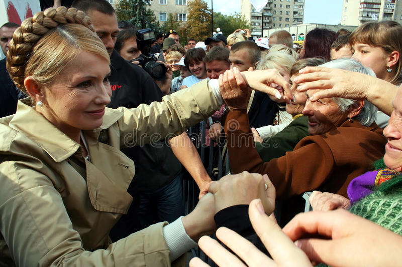 Ex Primo Ministro dell'Ucraina Yulia Tymoshenko fotografia stock