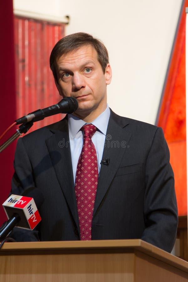 Ex primo ministro dell'Ungheria, sig. Gordon Bajnai fotografia stock