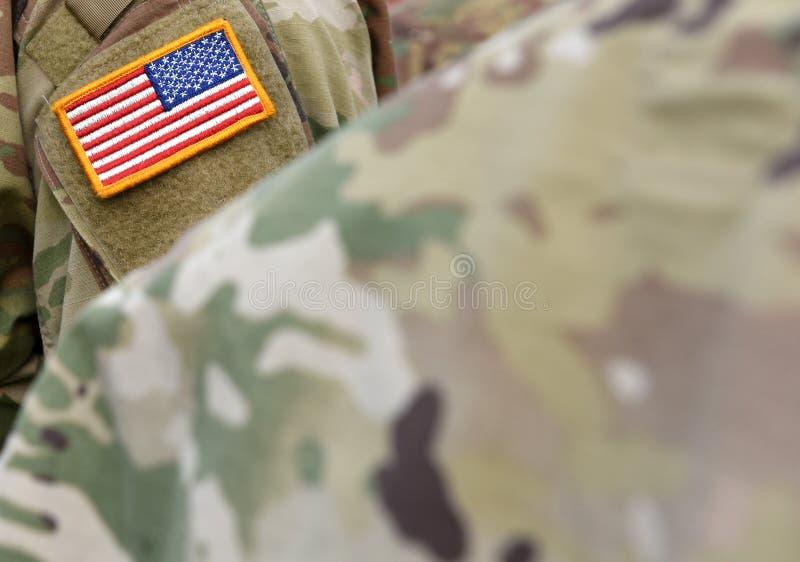 Ex?rcito dos EUA Soldados americanos Tropas dos E.U. imagens de stock royalty free