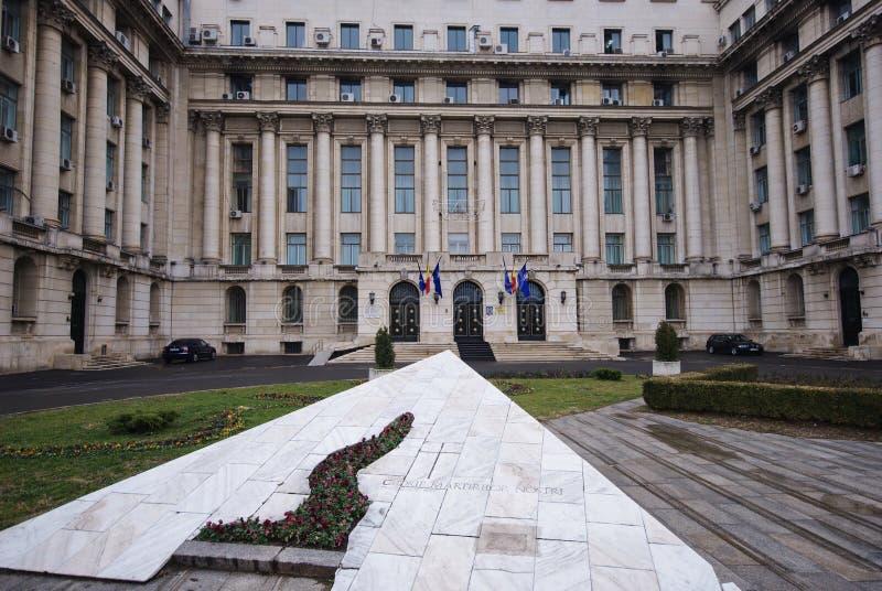 Ex Zentralausschußgebäude in Bucharest, Romani lizenzfreie stockbilder
