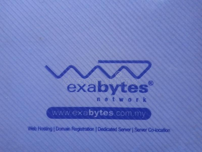 Exabytes Network. Counting on bytes network use royalty free stock photos