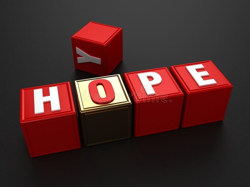 Exagération d'espoir pas illustration libre de droits