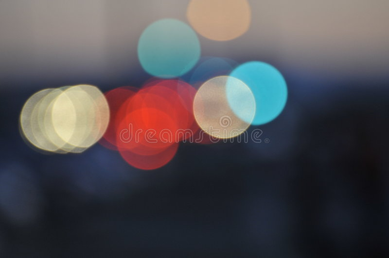 Exaggerated Lights from Emergency Vehicle royalty free stock photos
