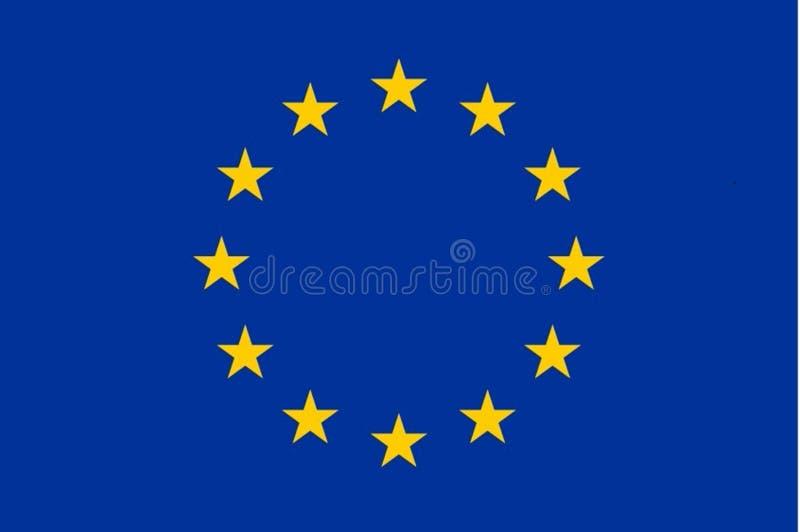 Exakt europeisk flagga för facklig flagga vektor illustrationer