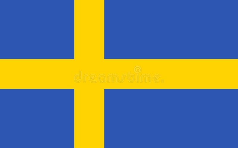 Exakt Sverige flagga vektor illustrationer