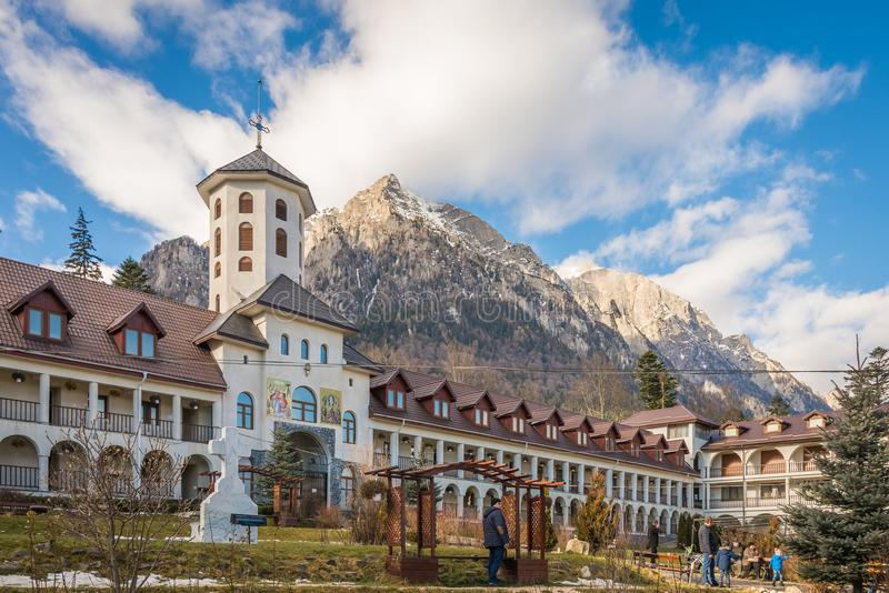 Caraiman Monastery in Busteni Mountains in Romania royalty free stock images