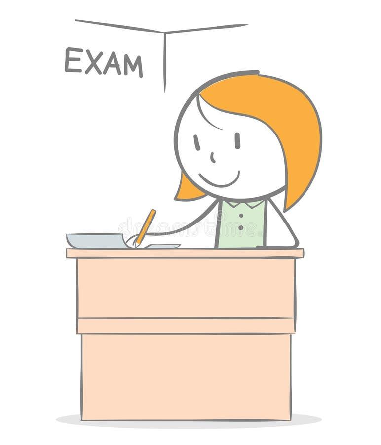 exam illustrazione vettoriale