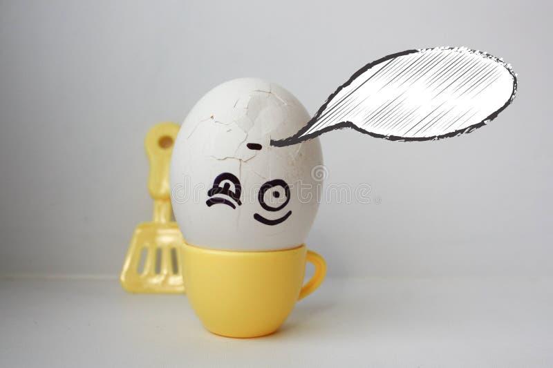 exam Exame do conceito Ovos com pintado foto de stock