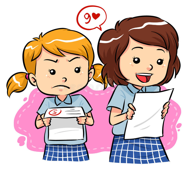 Exam results stock illustration