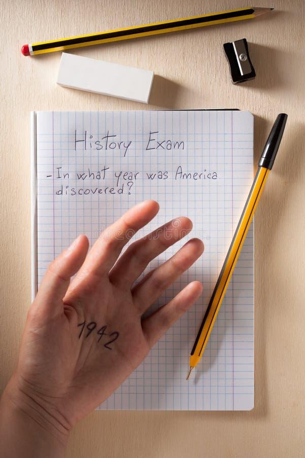 Exame da História fotos de stock royalty free