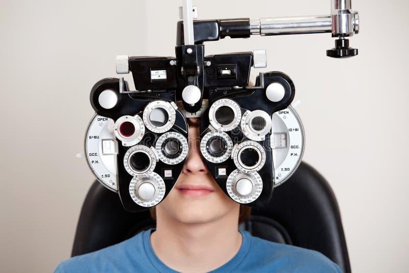 Exame da optometria foto de stock
