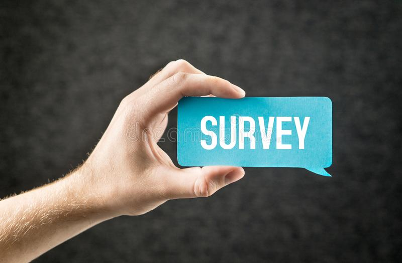 exame Dando o feedback, estudos de mercado, questionário imagens de stock
