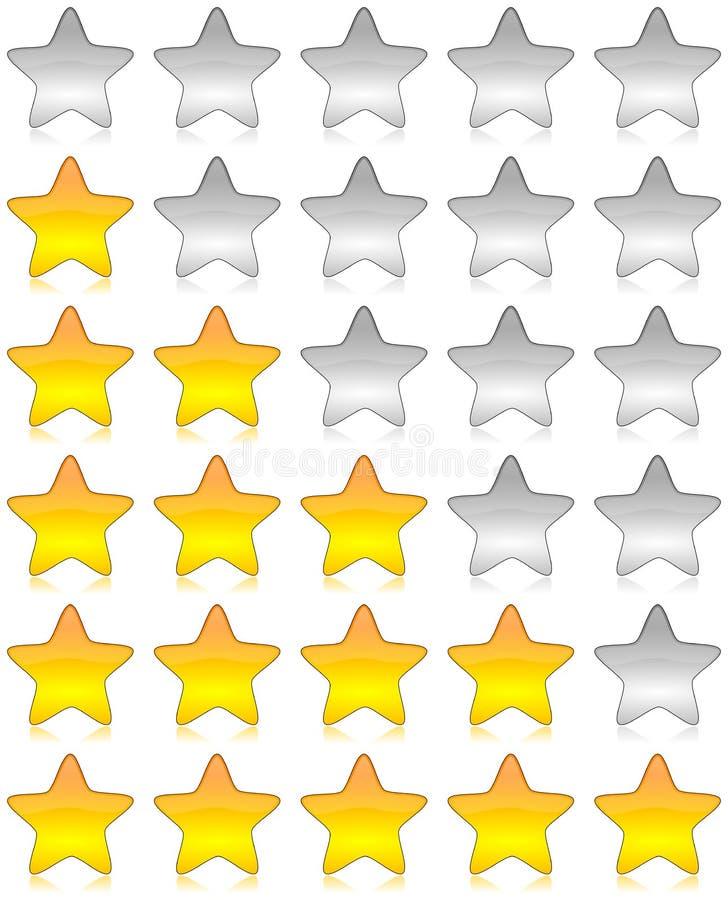 Exame das estrelas da avaliação ilustração do vetor