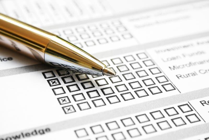 Exame de negócio imagens de stock royalty free