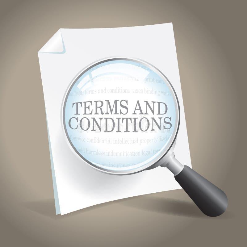 Exame de termos e condições ilustração do vetor