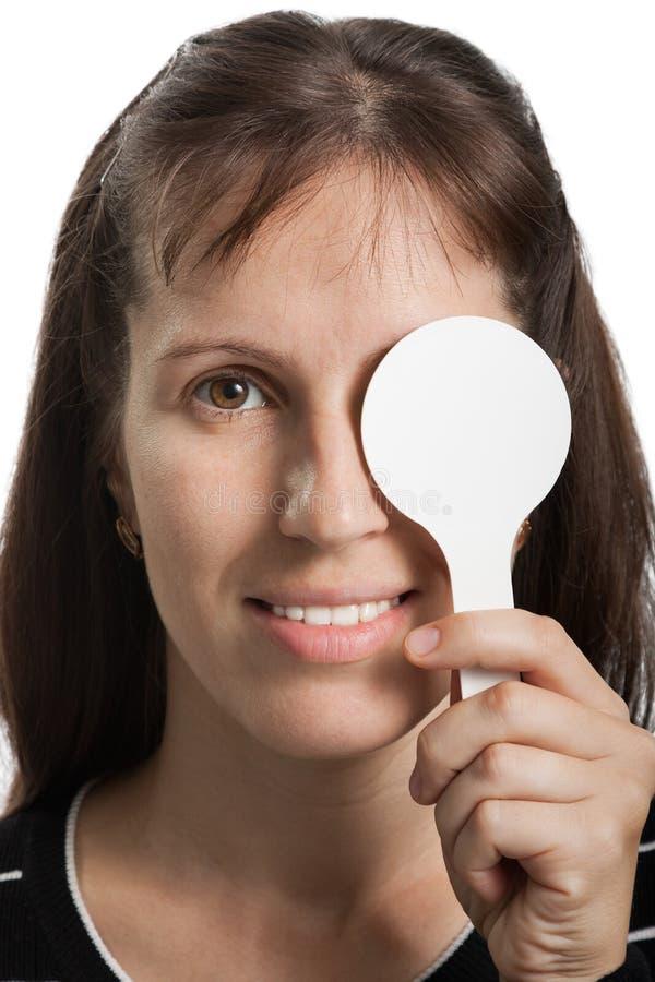 Exame do Eyesight foto de stock royalty free
