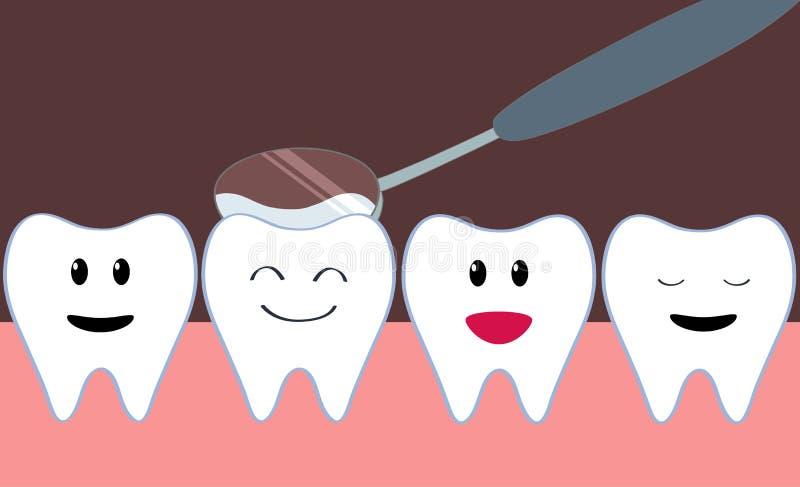 Exame dos dentes ilustração royalty free