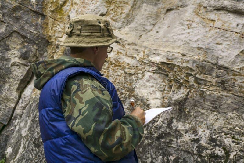 Exame Geological fotografia de stock