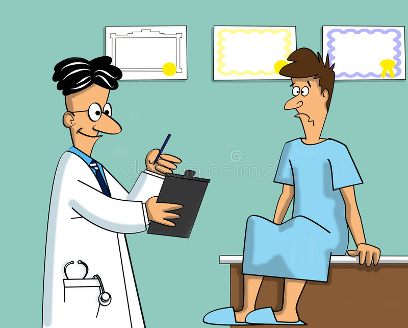 Exame médico ilustração royalty free