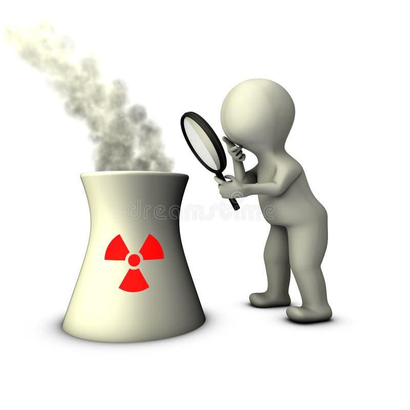 Exame oficial dos livros contábeis da central energética nuclear ilustração royalty free