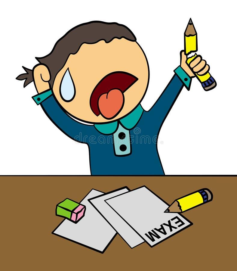 Examen épuisé illustration libre de droits