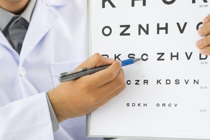 Examen d'oeil image libre de droits