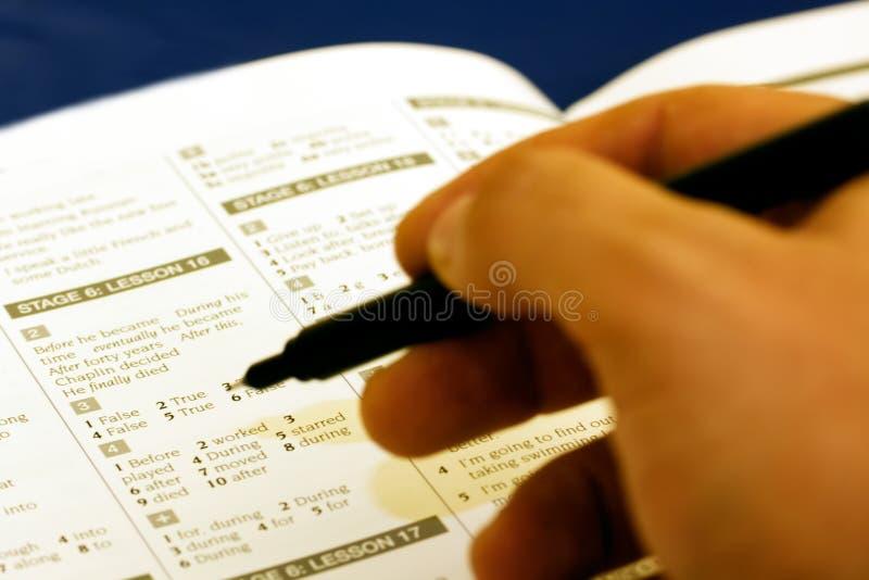 Examen dans l'université images stock