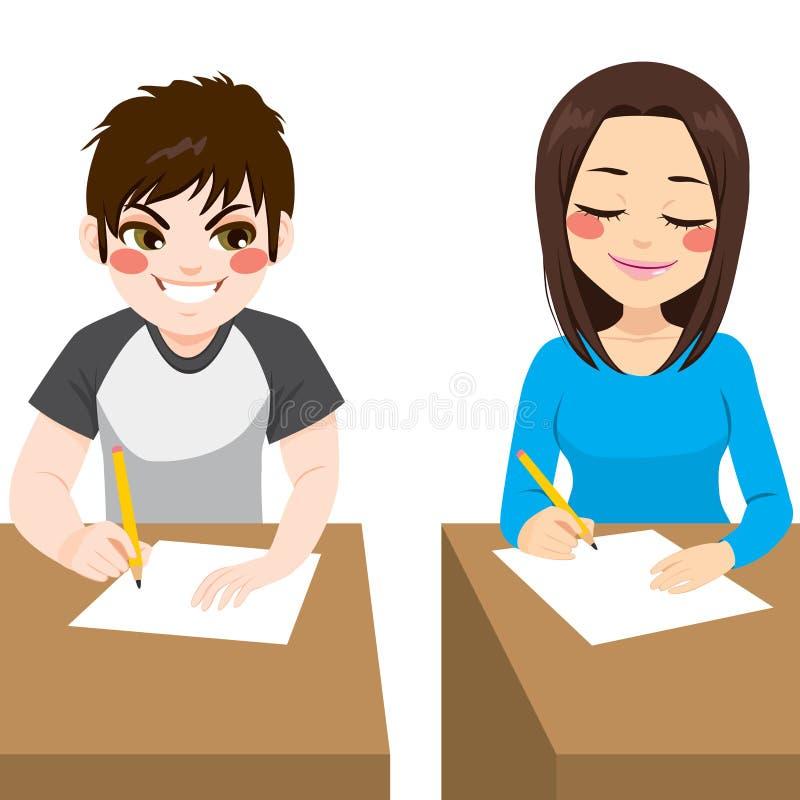 Examen de fraude d'adolescent illustration libre de droits