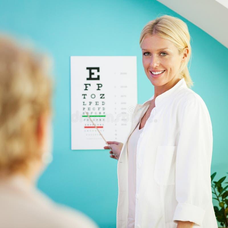 Examen de la vue photo stock