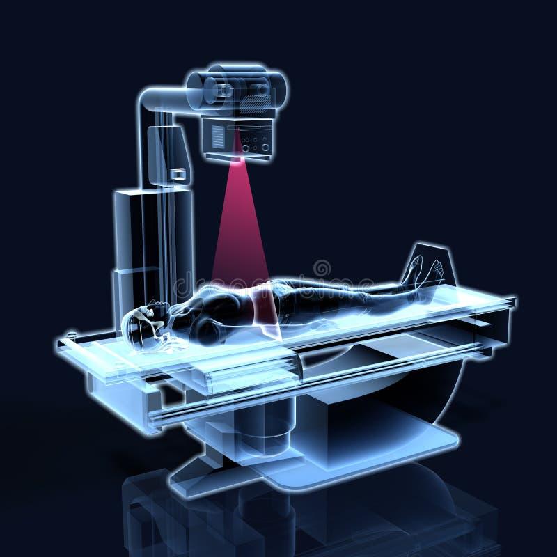Examen de rayon X d'une femme, médicalement illustration 3D illustration stock