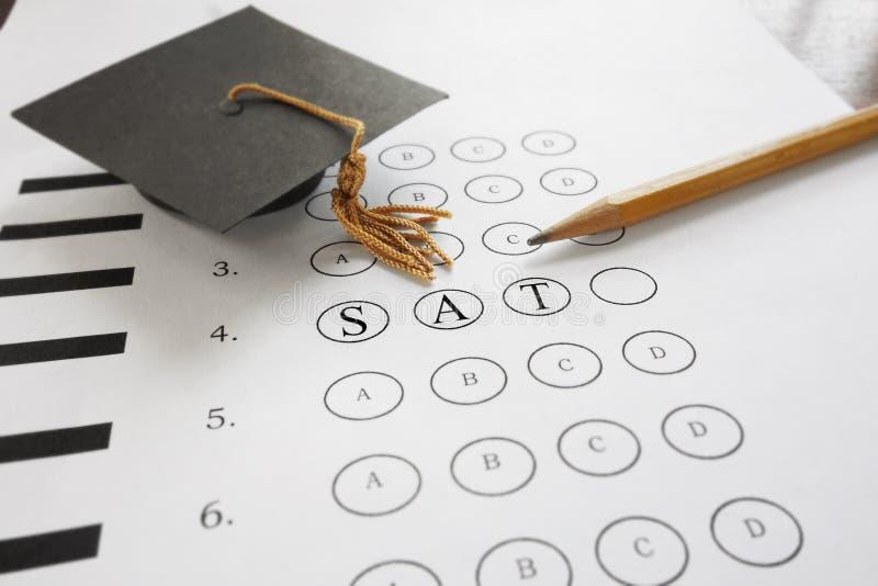 Examen del SAT fotos de archivo libres de regalías