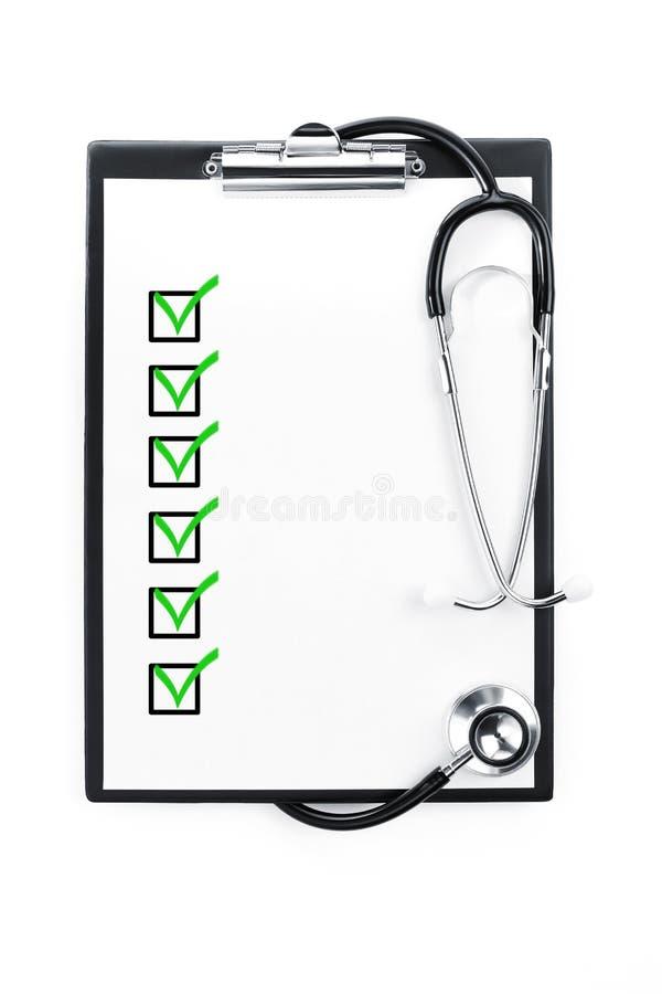 Examen médical avec le chemin de découpage images libres de droits