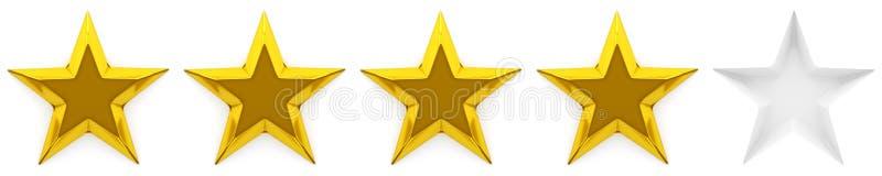 Examen ou estimation de zéro à cinq étoiles illustration stock
