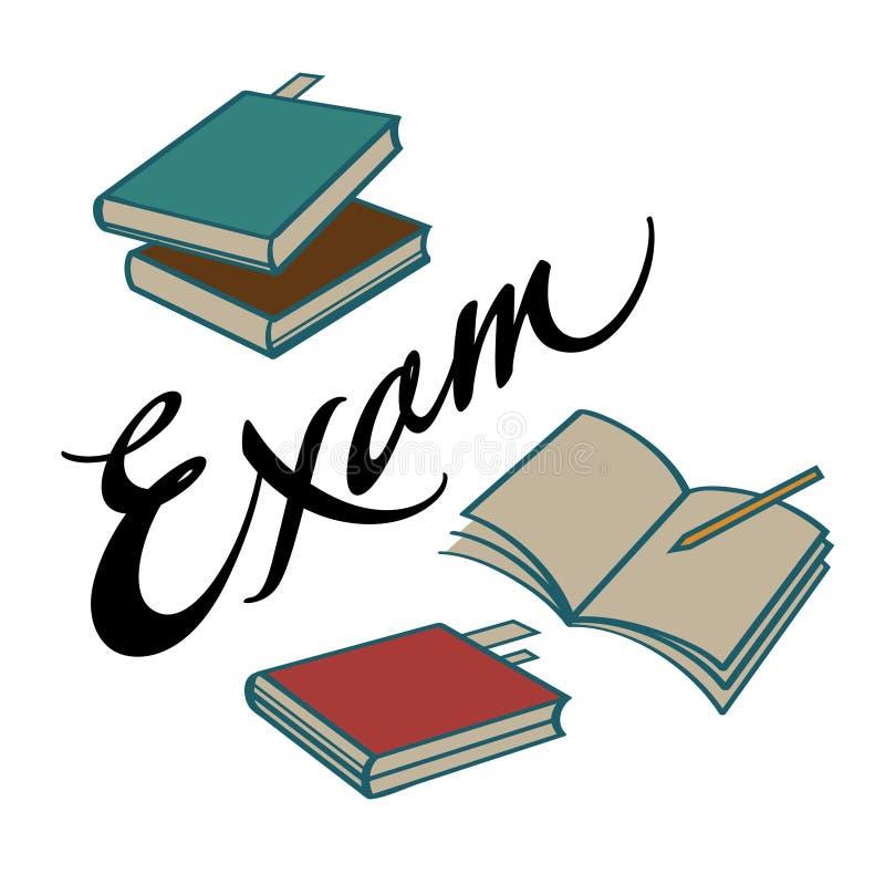 Examenboeken royalty-vrije illustratie