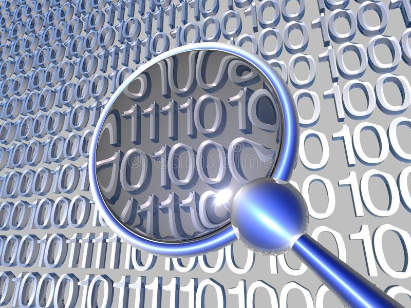 Examinant des données - bleu 1 illustration de vecteur
