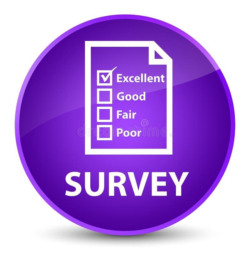 Examine (icono del cuestionario) el botón redondo púrpura elegante libre illustration