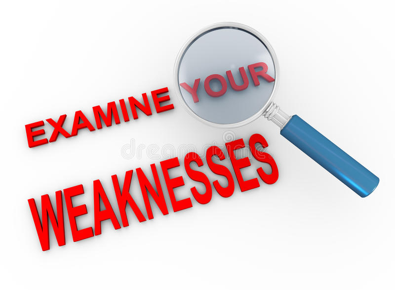 Examine Your Weaknesses Royalty Free Stock Images