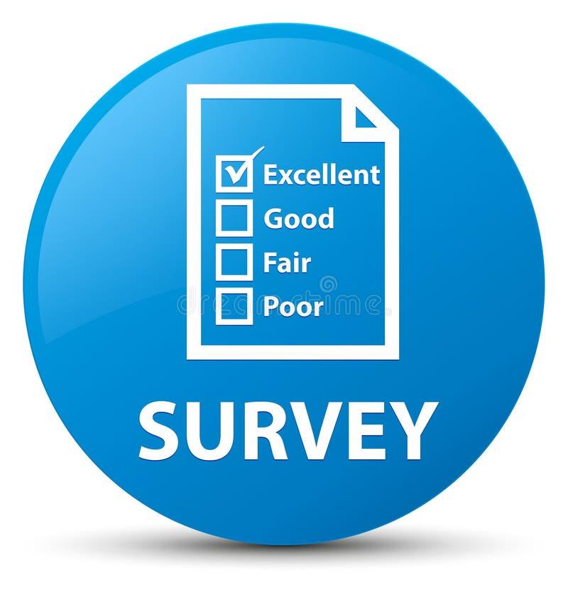Examinez (icône de questionnaire) le bouton rond bleu cyan illustration libre de droits