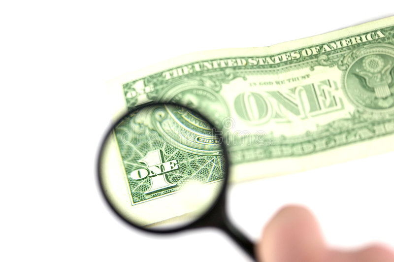 Examinez le dollar images libres de droits