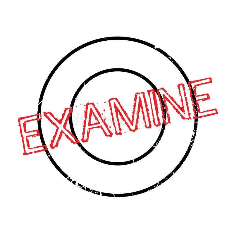 Examinez le tampon en caoutchouc illustration stock
