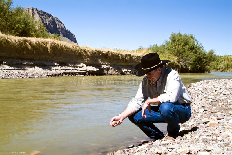 Download Examining the Terrain stock image. Image of river, landscape - 3502461