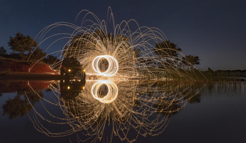 Example of long exposure photography stock photos