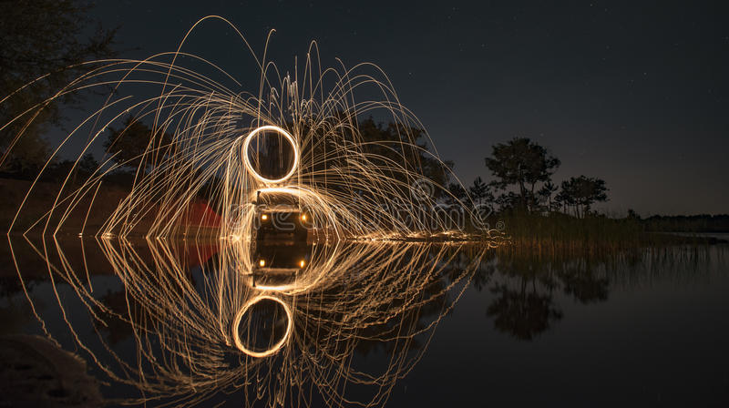 Example of long exposure photography royalty free stock photo
