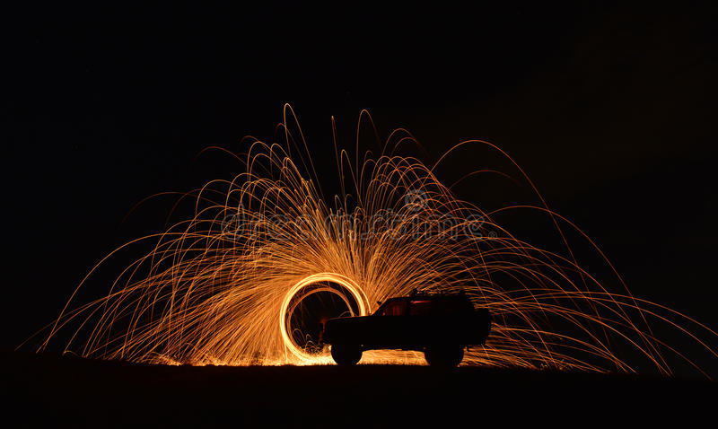 Example of long exposure photography royalty free stock photography