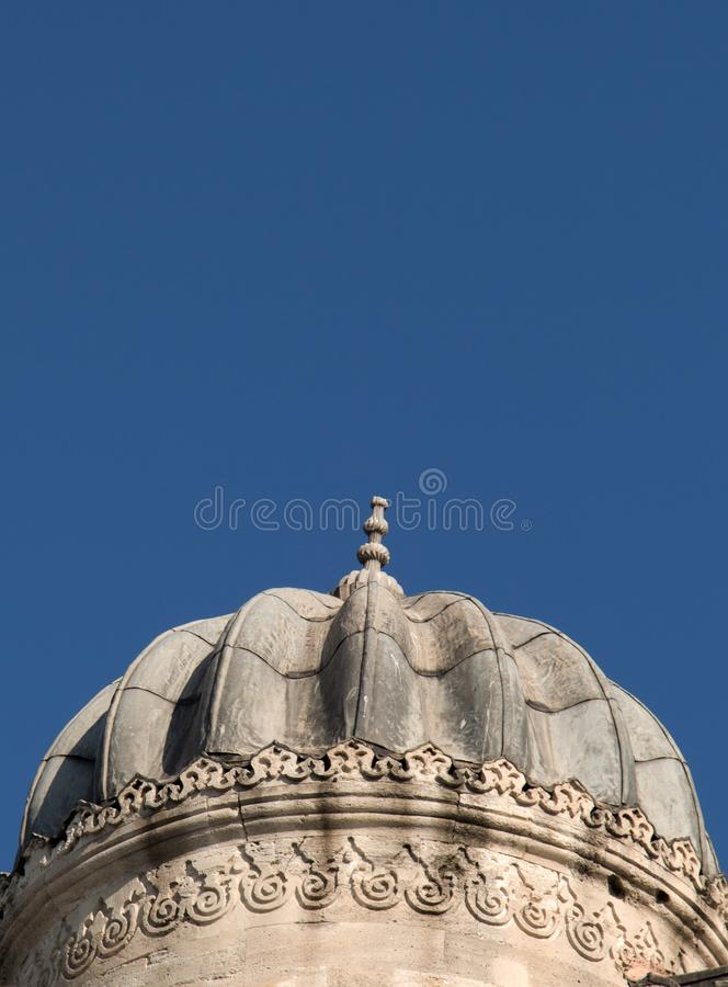 Example of Ottoman art patterns applied on stone stock image