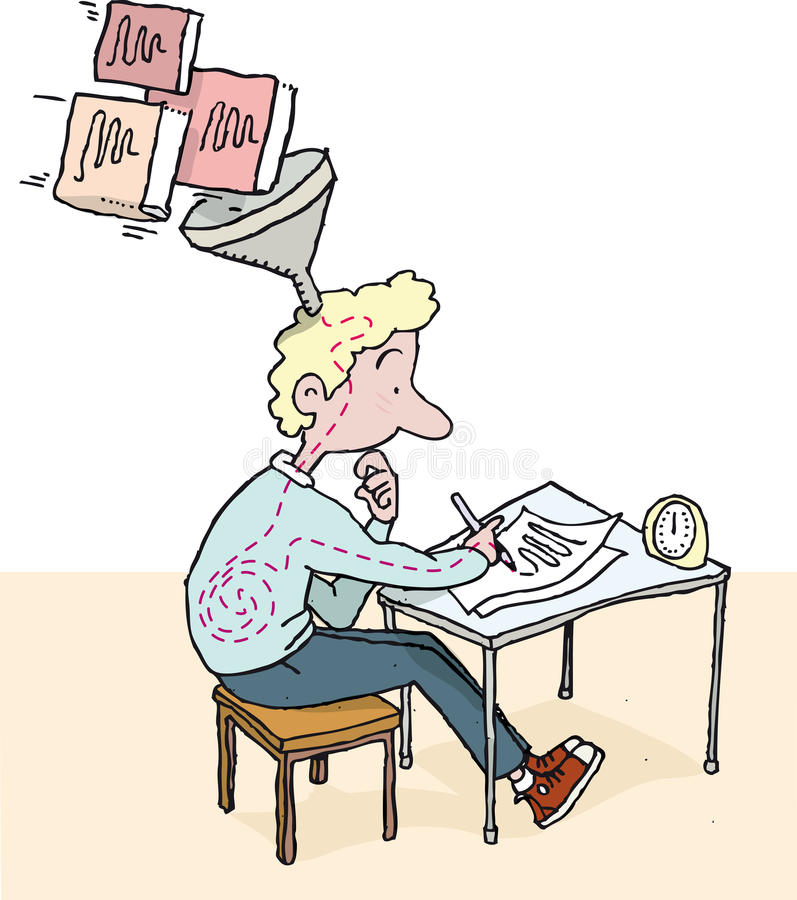 exams illustrazione di stock