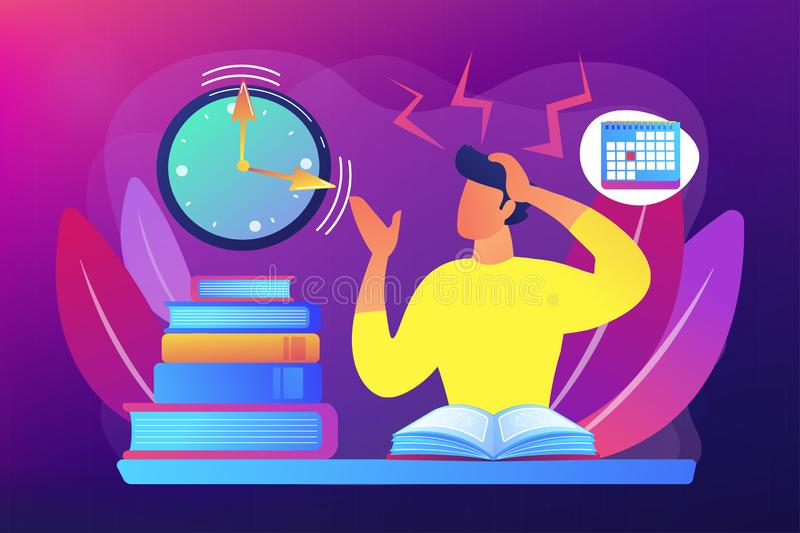 Exams and tests concept vector illustration royalty free illustration