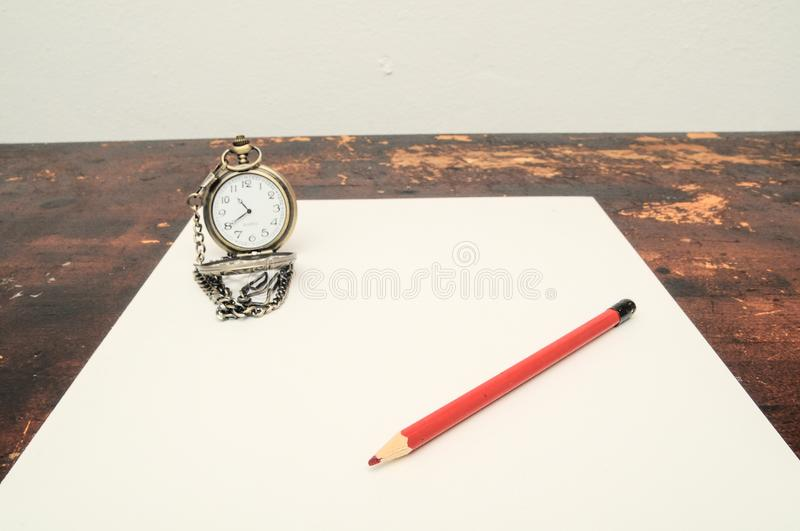 Exams Time Concept. A Concept Based on an Educational Time for Learning stock photography