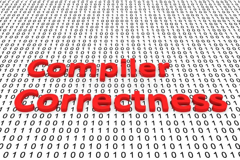 Exatidão do compilador ilustração do vetor